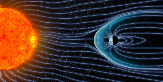 Solar wind and Earth&#39;s magnetic field