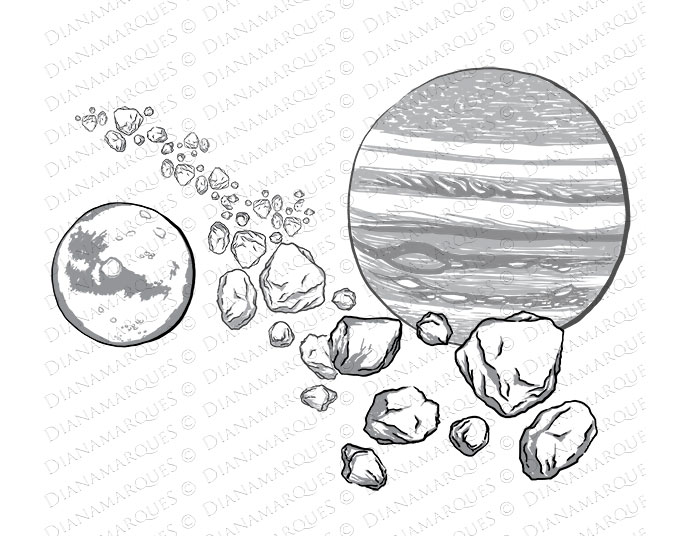 Asteroid Belt Drawing | www.pixshark.com - Images ...
