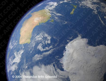 Antarctica and Australia from Space