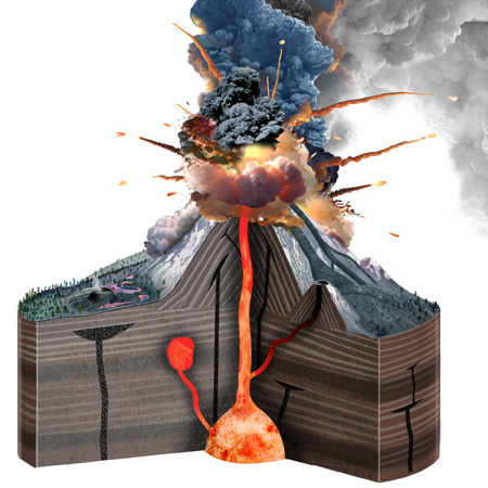Stratovolcano - Illustration@Science-Art.Com