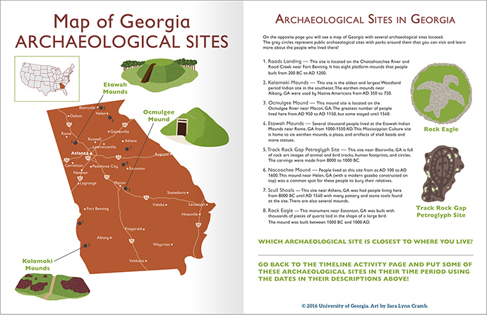 UGA Jr archaeologist GA sites
