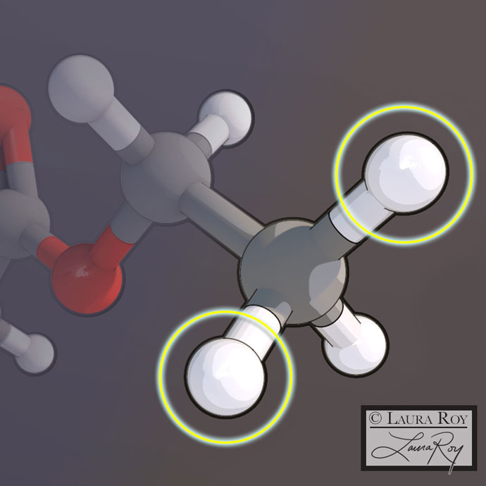 Potential Chiral Locations on a Molecule
