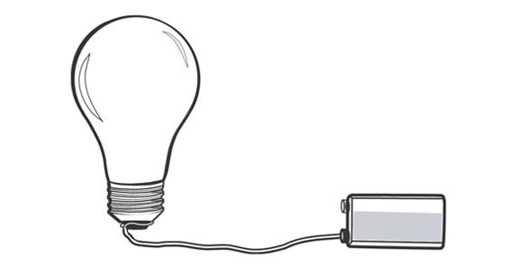 Light bulb and battery