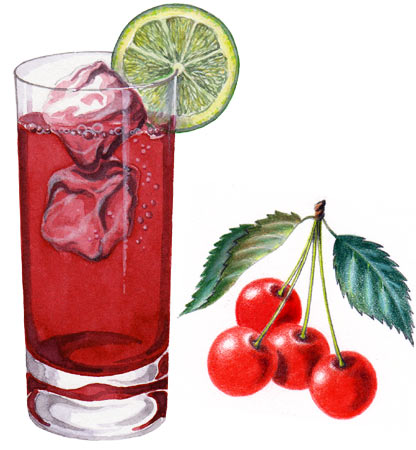 Drink and Cherries